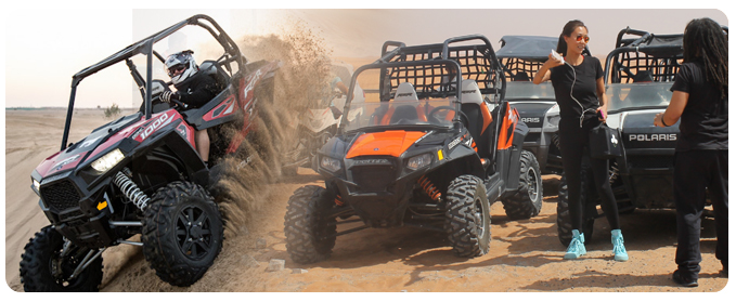 Polaris Dubai Desert Tour Package, Polaris Off road buggy desert sand dune adventure tour and rental, Polaris RZR Buggy self drive Tours