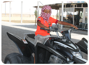 quad bike kids tour safari dubai, kids quad biking dubai, family quad ride